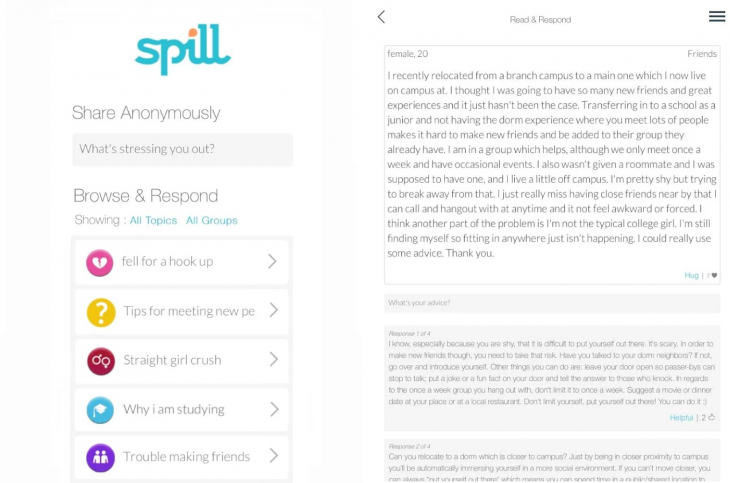 Spill android 730x483 Spill launches iOS and Android apps, expands empathy engine to high school students and post grads