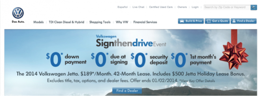 Volkswagen website 520x193 How to design banner ads that people actually want to click