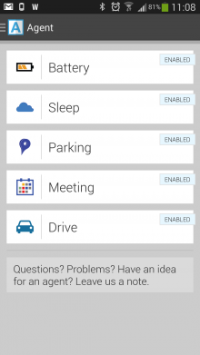 b1 220x391 Agent, the 5 apps in 1 smart assistant for Android, goes free