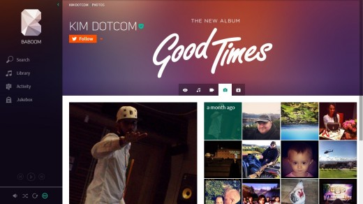 baboom4 520x292 Kim Dotcom gives a sneak preview of Baboom, his new music streaming service