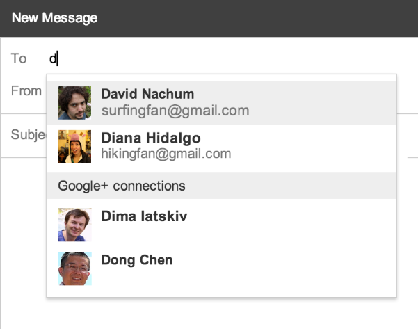 connections1 Gmail now lets you email your Google+ connections, but addresses are only shared when you hit send