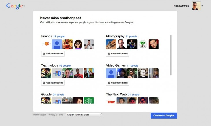 googleplus 730x437 Google wants you to turn on email and push notifications for your favorite Google+ circles