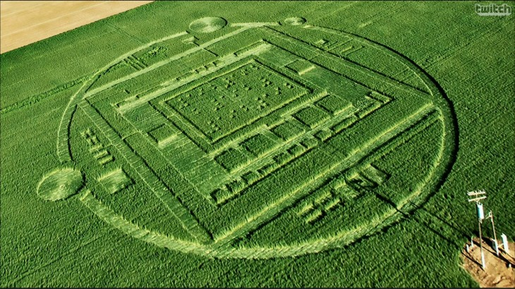 nvidia 730x410 No, it wasnt aliens: Nvidia created a crop circle to market its new mobile processor