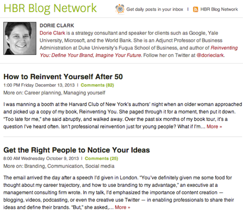 screenshot HBR Blog Network 5 effective networking strategies in the digital age