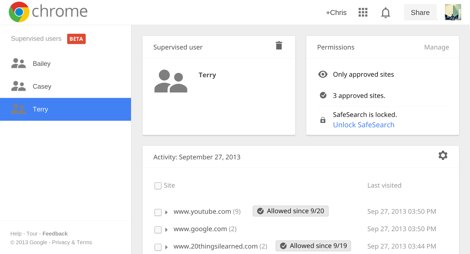 supervisedusers manage Chrome 32 launches with noisy tab indicators, new Windows 8 look, better malware blocking, and supervised users