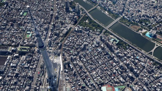 tokyo 07 520x292 Tokyo just became more real on Google Maps with new 3D imagery