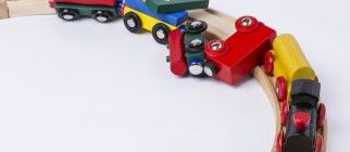 toy train derailed