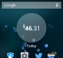 widget 220x204 Levels real time money meter app hits Android to be your Fitbit for personal spending