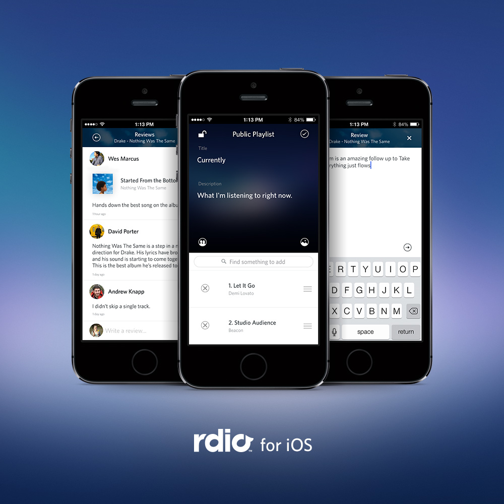 6a014e87574ac9970d01a73d74e6d1970d Rdio for iOS gets playlist editing and reviews, coming to Android soon
