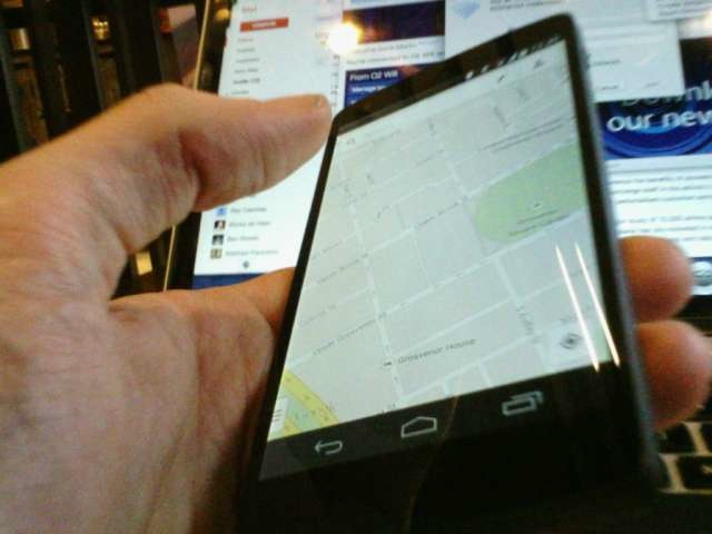 Checking Google Maps