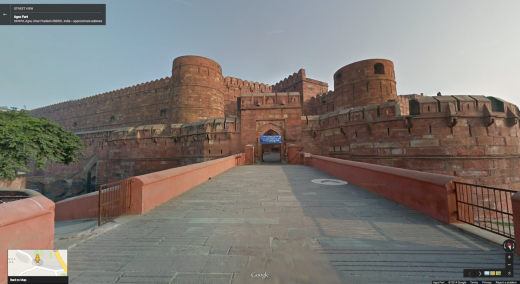 Agra Fort 520x284 You can now explore the Taj Mahal and other Indian monuments through Google Street View