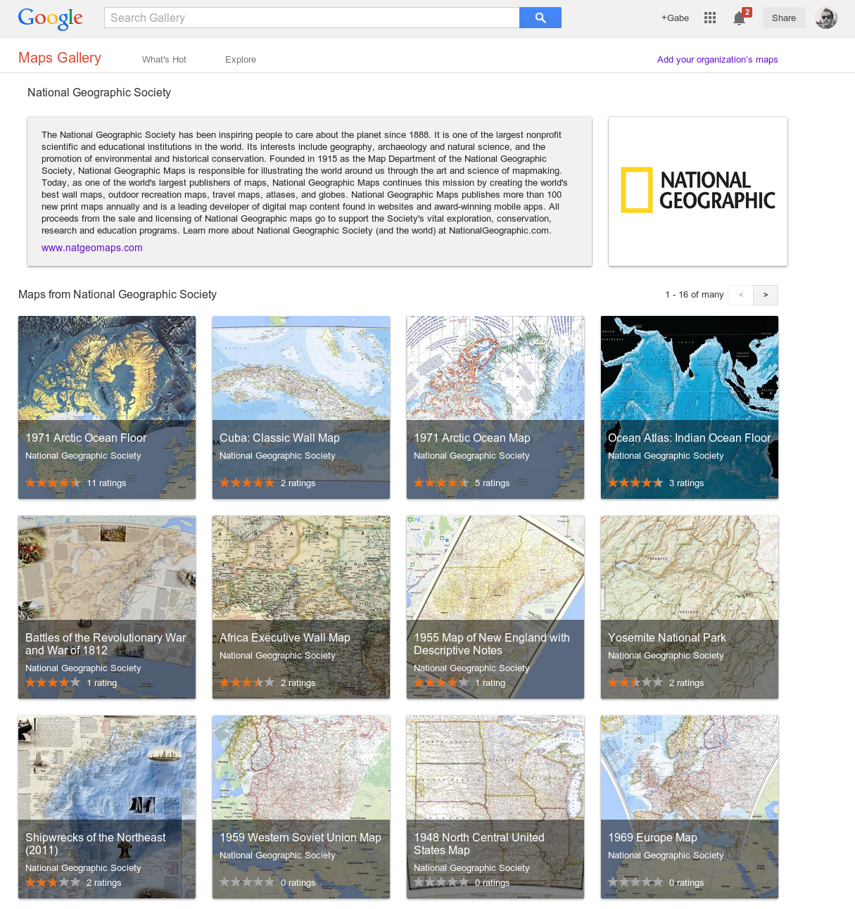 NatGeo Google launches Maps Gallery, a new digital atlas that lets you explore third party maps