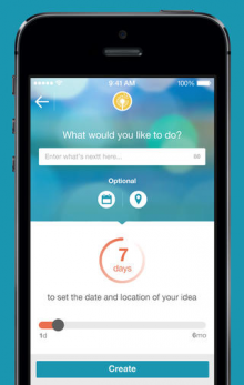 Nextt 220x347 Nextts iOS and Android apps for making plans with friends now include a self destruct feature