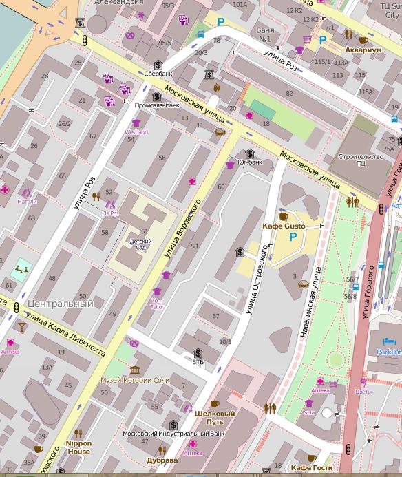 Sochi... OpenStreetMap