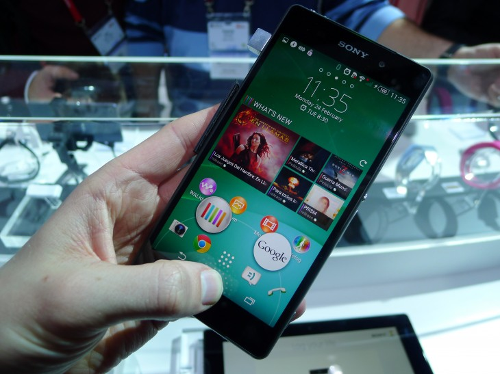 P1050055 730x547 Sony Xperia Z2 hands on:  A promising rival to the Samsung Galaxy S5