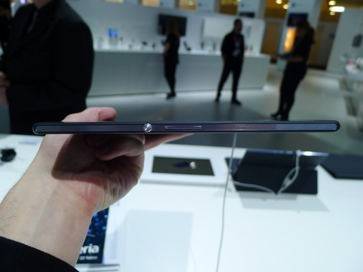 P1050240 730x547 Sony Xperia Z2 Tablet hands on: A remarkably slim, light and powerful 10.1 inch Android slate
