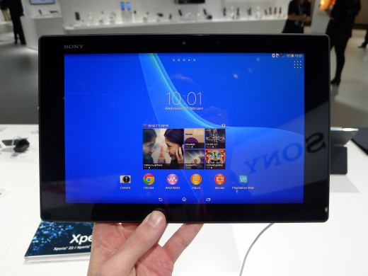 P1050246 520x390 Sony Xperia Z2 Tablet hands on: A remarkably slim, light and powerful 10.1 inch Android slate