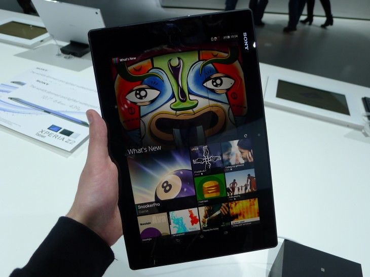 P1050256 730x547 Sony Xperia Z2 Tablet hands on: A remarkably slim, light and powerful 10.1 inch Android slate