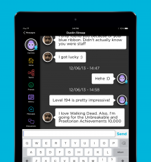 QuizUpiOS 220x236 QuizUp lands for the iPad as the hit trivia game claims 10m users in just 2 months