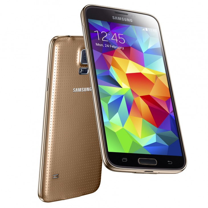 SM G900F copper GOLD 01 730x730 Samsungs Galaxy S5 is official: 5.1 display, fingerprint scanner, heart rate monitor, and more