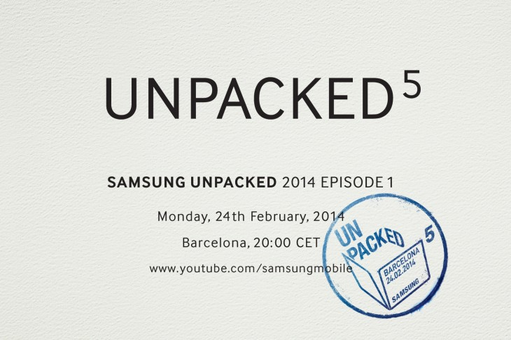 Samsung Unpacked Invitation SNS 730x486 Samsung drops a heavy hint that the Galaxy S5 will be announced on February 24