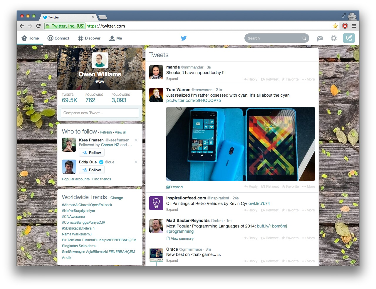 Screen Shot 2014 02 04 at 11.01.49 pm Dont like Twitters new design? Heres how you can change it