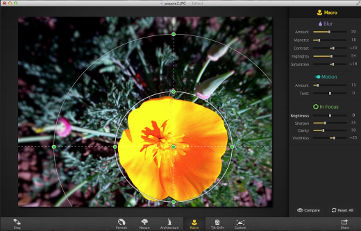 Screen Shot 2014 02 23 at 7.15.21 PM 520x333 Add an eyecatching finish to photos with Macphuns new Focus 2 Pro for Mac