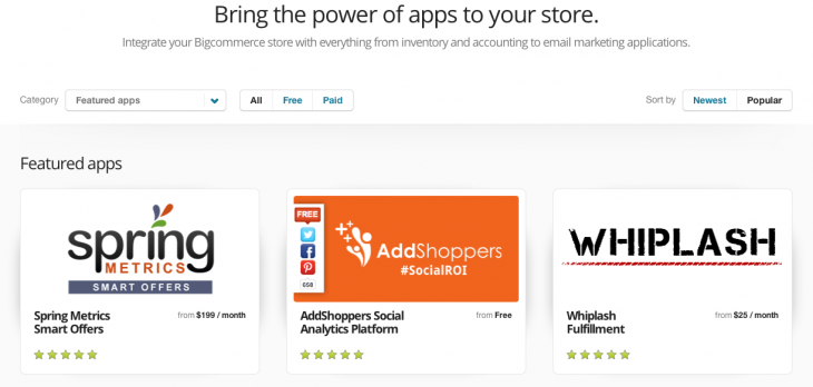Screen shot 2014 02 27 at PM 08.27.18 730x348 Bigcommerce wants to be an iTunes for commerce with its new integrated app store for merchants