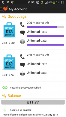 Screenshot 2014 02 28 14 11 38 220x391 GiffGaff, the UK people powered mobile network, launches native Android app