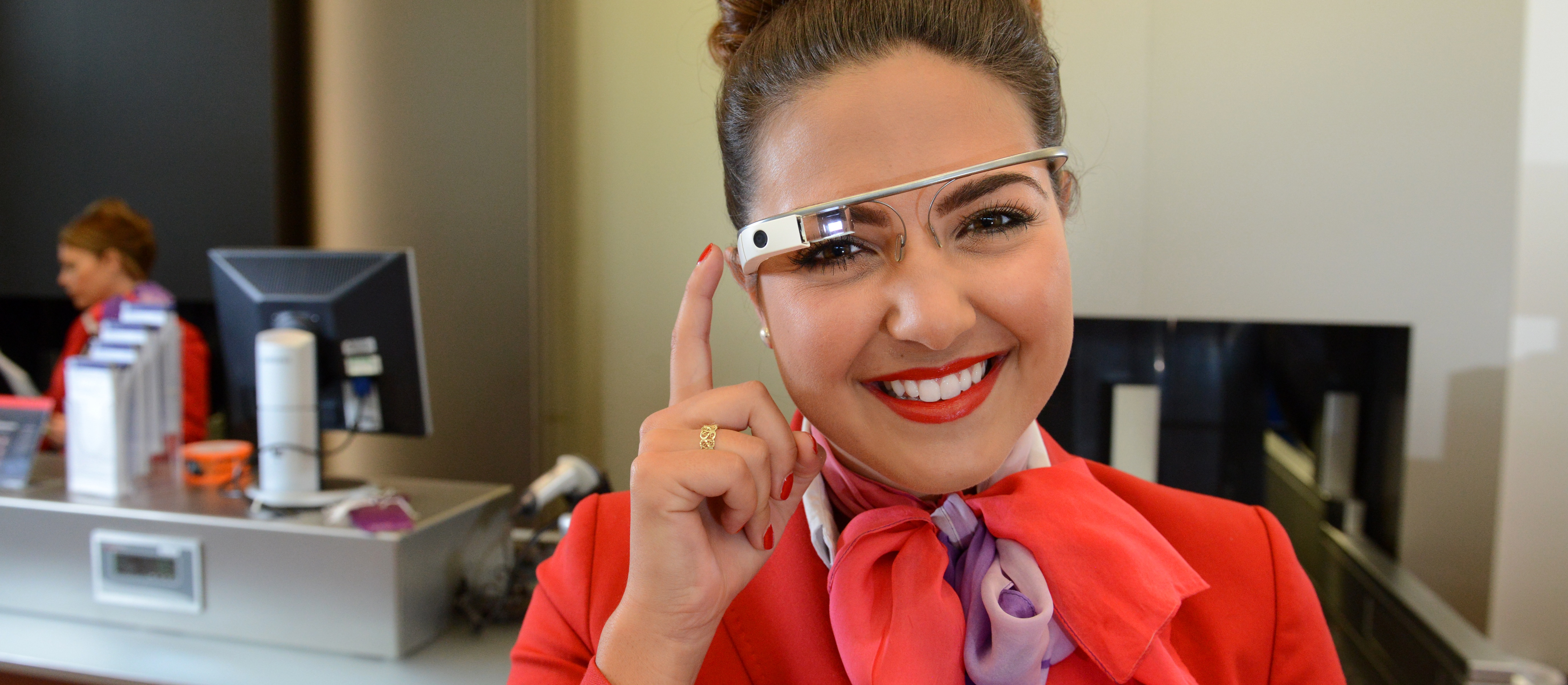 Google Glass worn by Virgin Atlantic staff to assist passengers at London's Heathrow airport