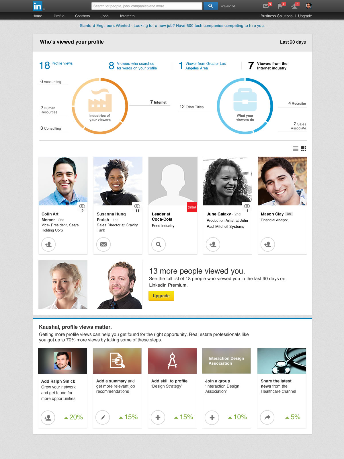 LinkedIn's Who's Viewed Your Profile Gets Analytics an