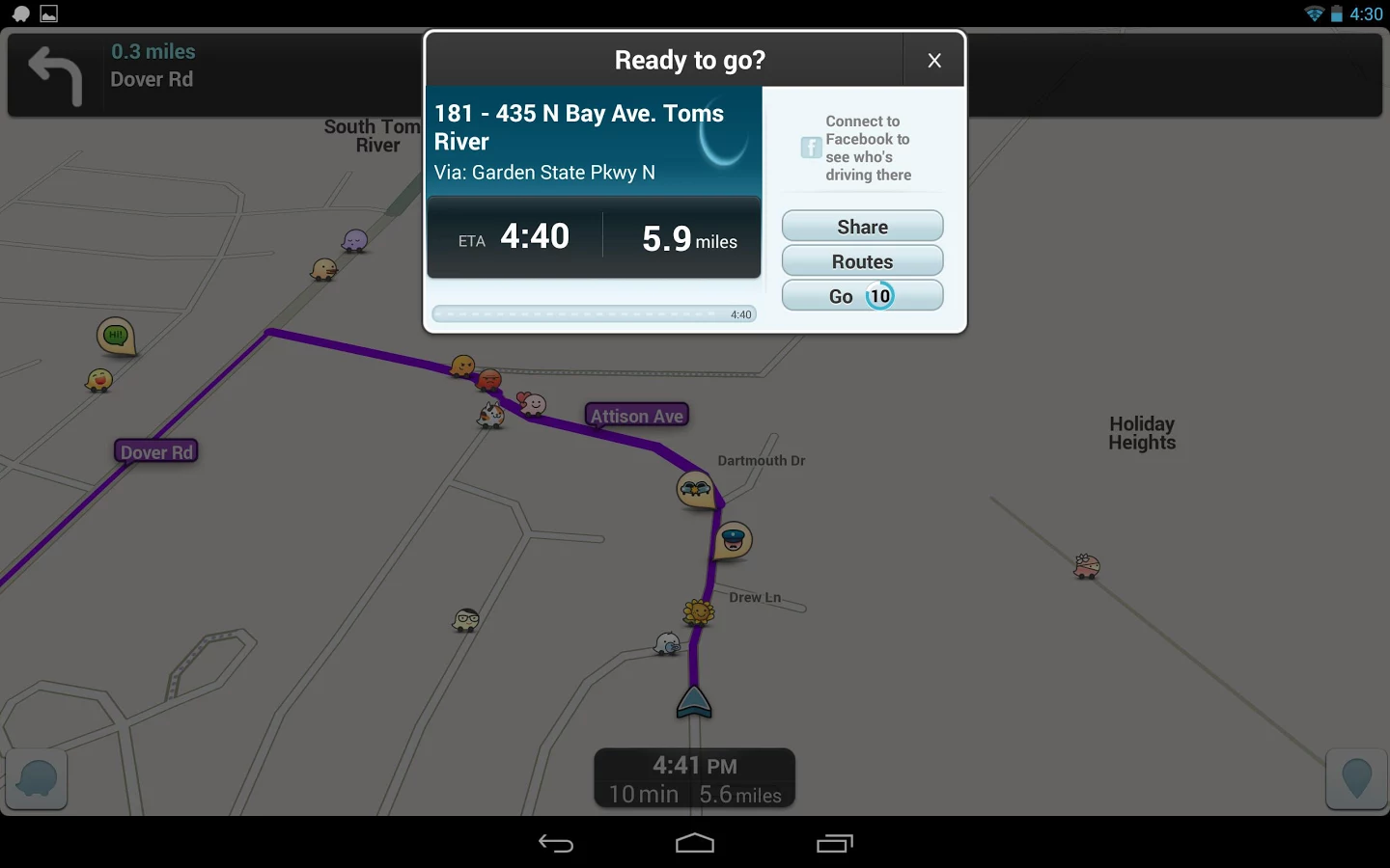 google 39 s waze for ios and android updated with calendar integration. Black Bedroom Furniture Sets. Home Design Ideas