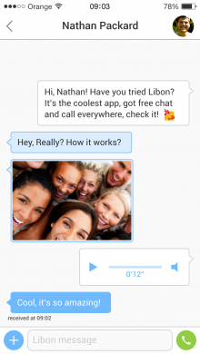 Webchat Screens 06 220x390 Orange adds a clever take on mobile messaging to its Libon app