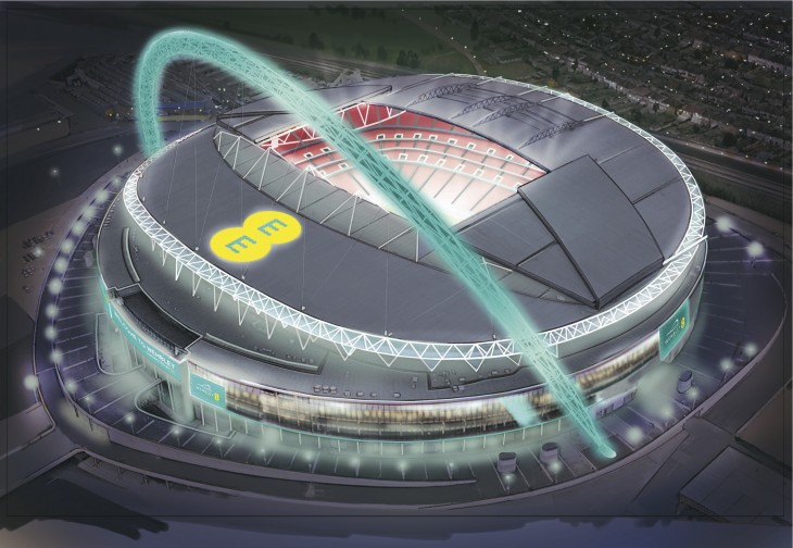 Wembley Connected By EE Aerial 730x504 EE and Wembley want to create the most connected stadium in the world