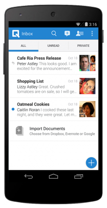 android 2 inbox import 220x426 Collaborative word processor Quip brings its Android app to 7 new app stores, adds new features