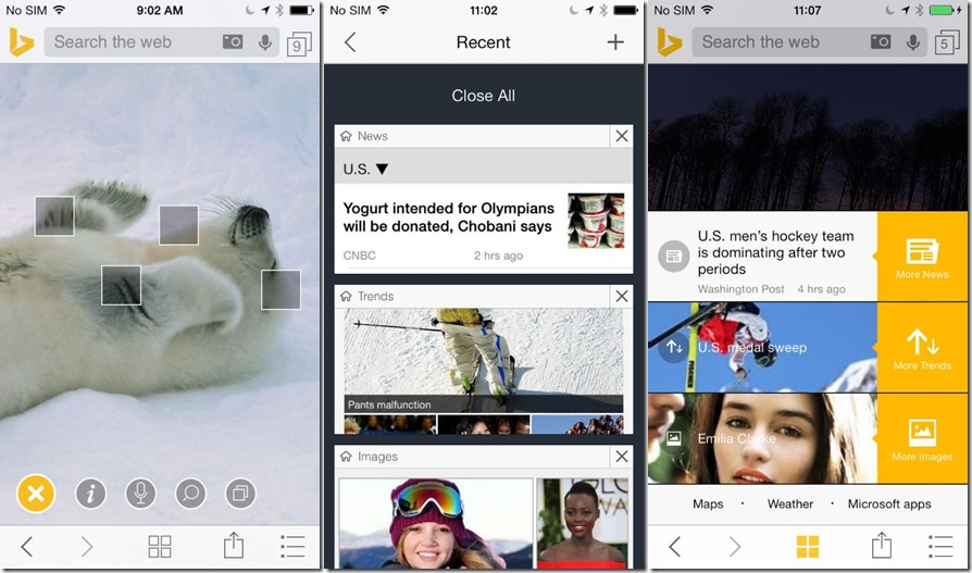 bing iphone Bing for iPhone gets a pervasive search widget, multiple search management, Safari integration, and more