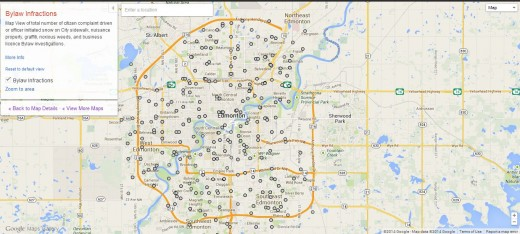 edmonton 520x234 Google launches Maps Gallery, a new digital atlas that lets you explore third party maps