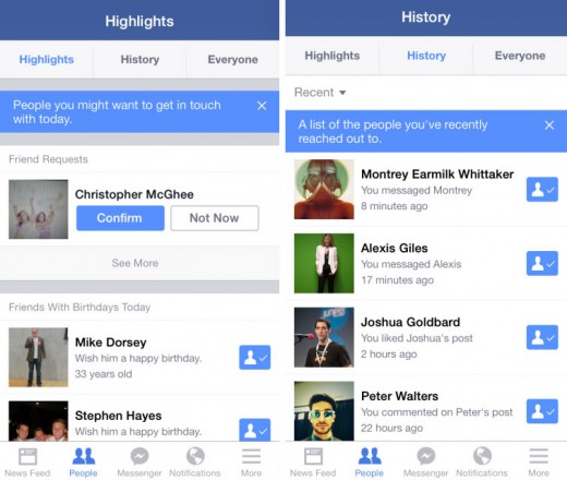 facebook highlights 520x440 Facebook testing a new Highlights feature on iOS to showcase your friend's life events