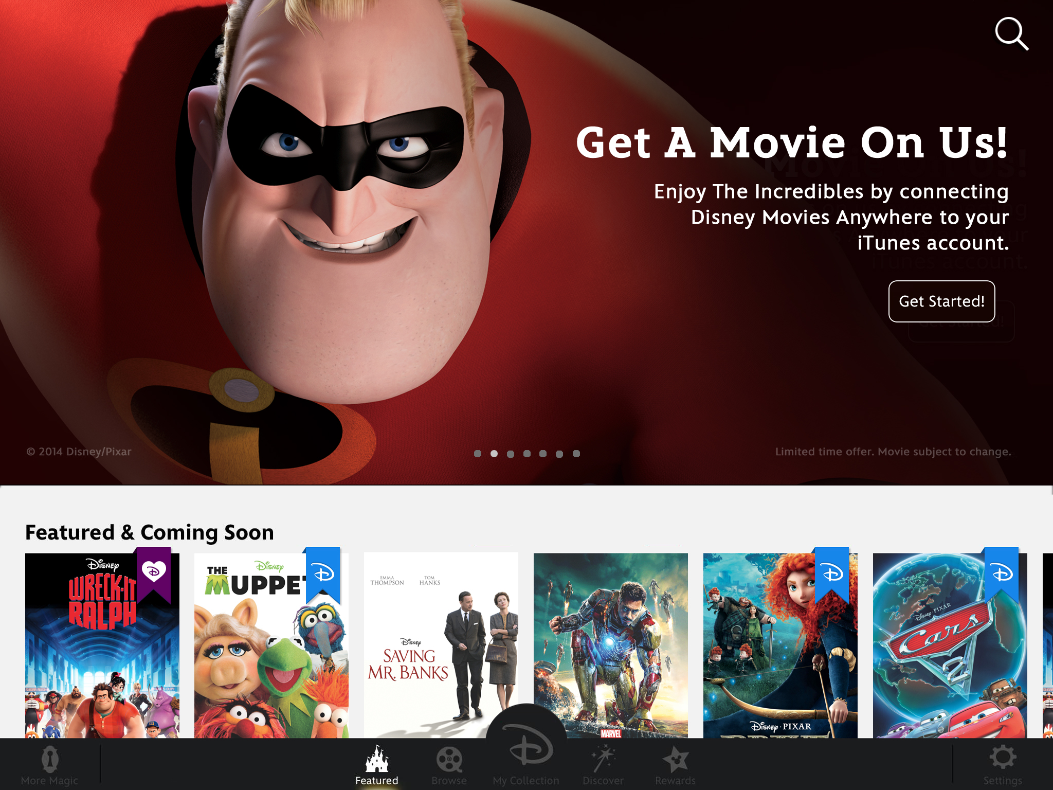 Over 400 films to ios devices with its new disney movies anywhere app