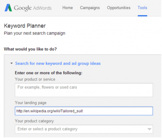 google keyword planner 520x441 A guide to getting everlasting traffic with keyword research