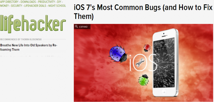 iOS 7s Most Common Bugs and How to Fix Them  730x350 Smoke testing your apps 101: A guide for the non techie co founder
