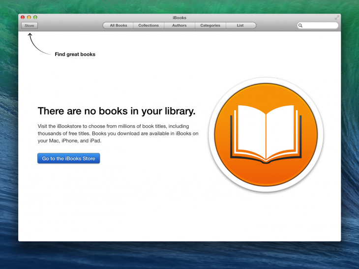 ibooks welcome@2x 730x547 Designing the details: Why empty states matter