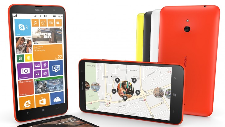 nokia lumia 1320 group 730x413 The Nokia Lumia 1320 hits the UK via EE, Virgin Mobile and Carphone Warehouse on Feb 24