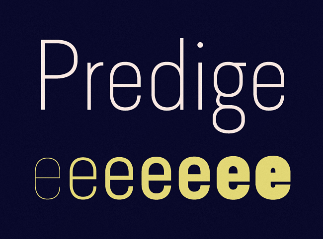 predige The best typefaces from this past month