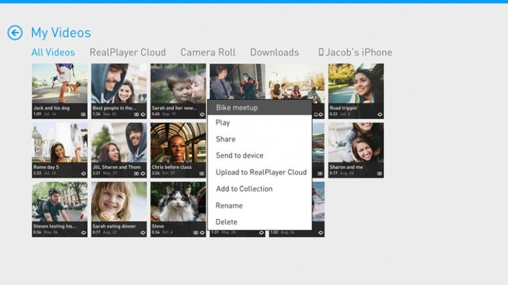 realplayer cloud 730x410 Real Player Cloud now available worldwide, video sharing via SMS added to Android and iOS apps