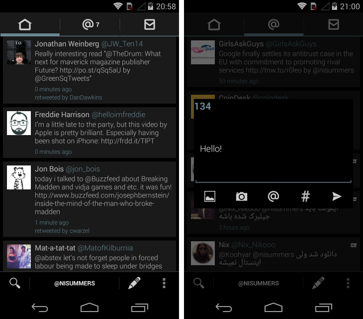 robird Fed up with Twitters official Android app? Try these alternatives