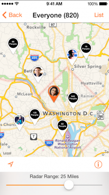socialradar 2 220x392 22 of the best iOS apps launched in January