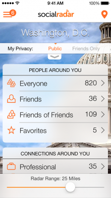 socialradar 220x391 22 of the best iOS apps launched in January