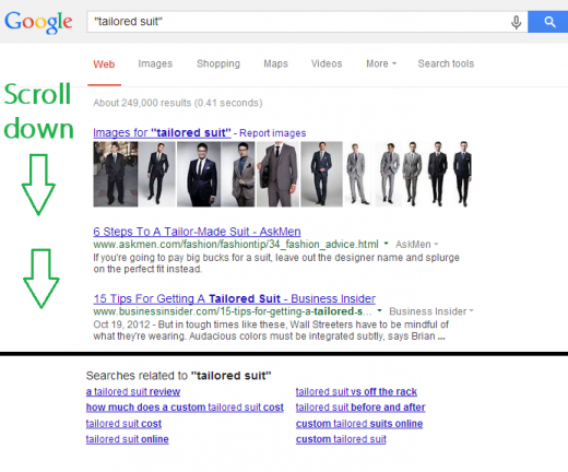 tailored suit Google Search 520x432 A guide to getting everlasting traffic with keyword research