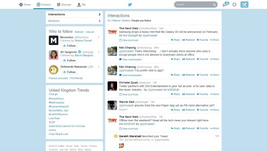 twt2 520x295 The redesigned Twitter.com has now rolled out to all users